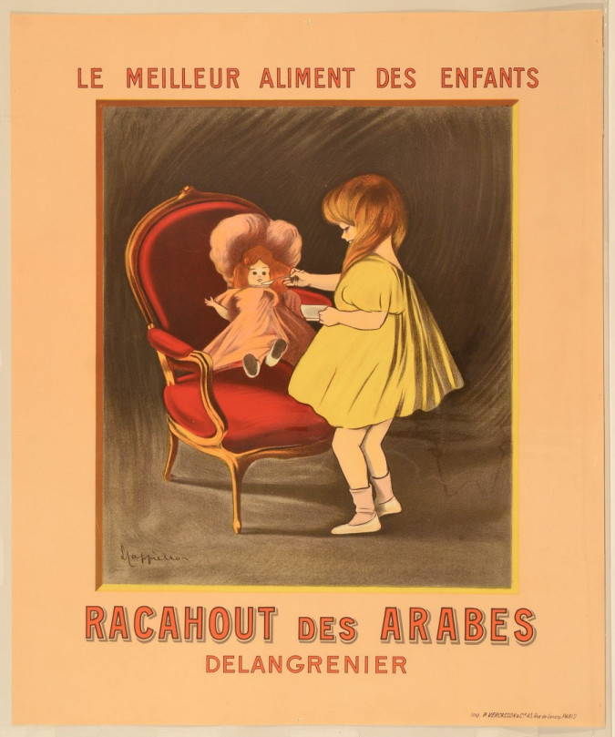 """Original Vintage French Poster for """"Racahout des Arabes"""" by Cappiello ca. 1900"""