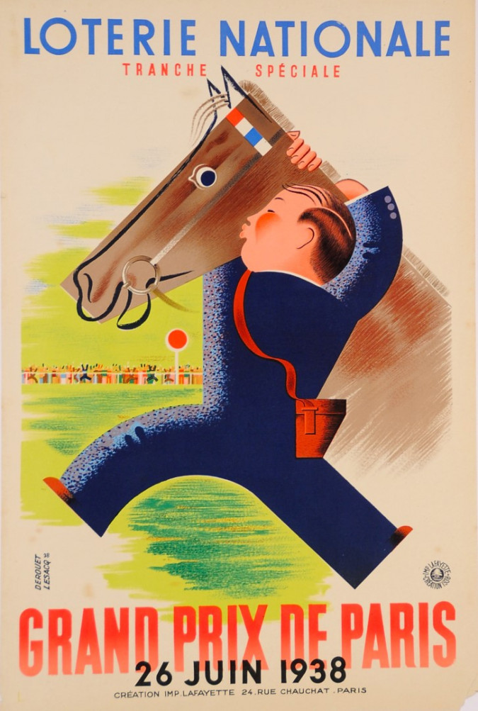 Loterie Nationale Poster by Derouet Lesacq 1938