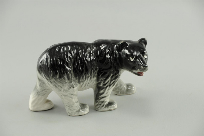 Japan Miniature Porcelain Bear Walking Figurine