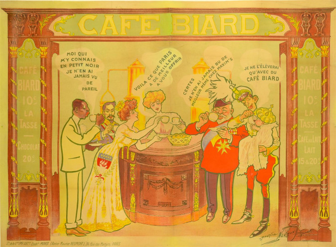 "French Poster ""CAFÉ BIARD"""
