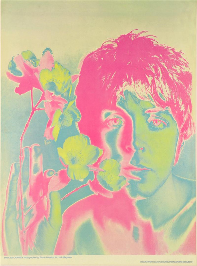 Paul McCartney Beatles Photographed by Richard Avedon for Look Magazine 1967