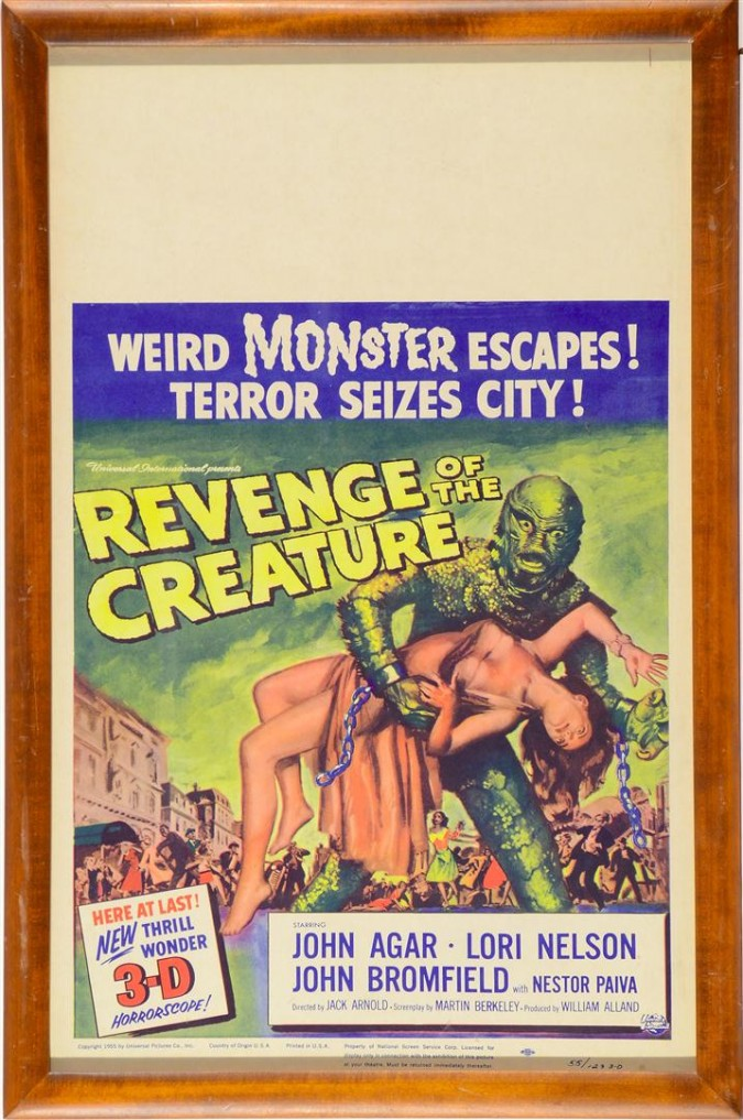 "Horror American Movie Poster ""Revenge of the Creature"" 1955"