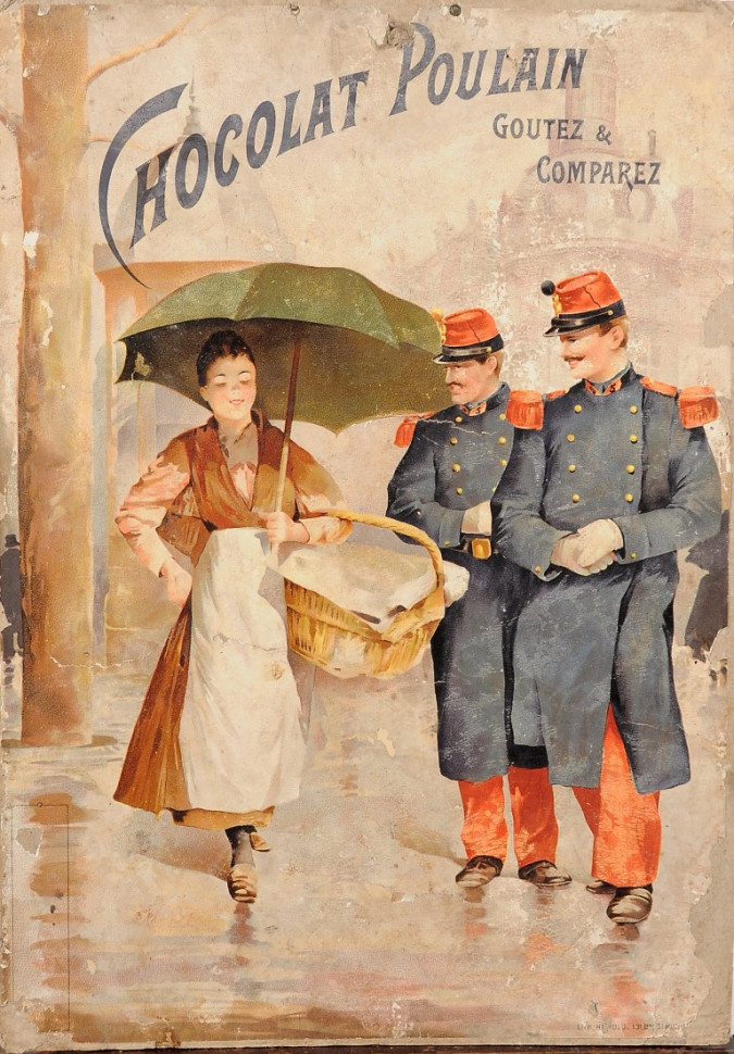 """French Advertising Poster """"Chocolat Poulain"""" (EXTREMELY RARE)"""