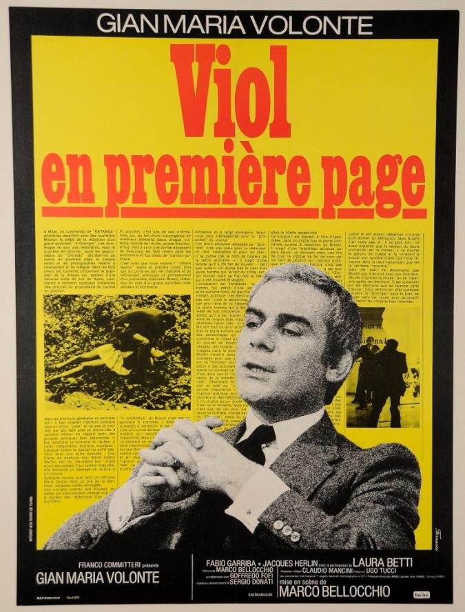"""Original Vintage Italian Movie Poster """"Sbatti il mostro in prima pagina"""" Ferracci 1972"""