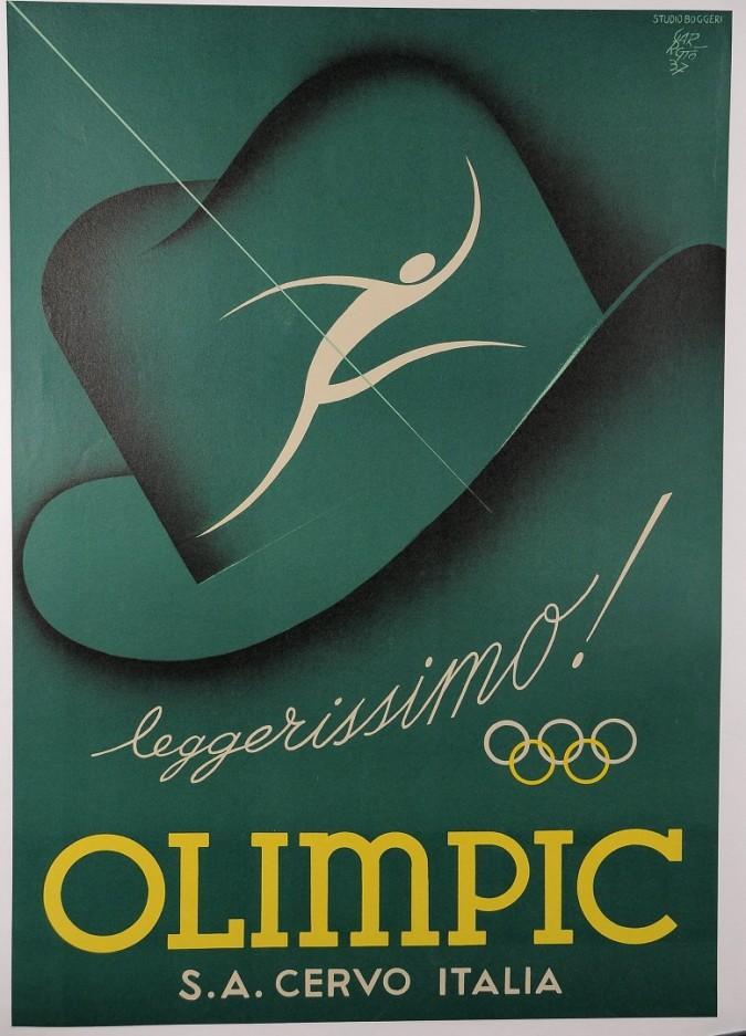 Original Vintage Studio Boggeri Poster for 1937 Olympics by P.F. Garretto 1937