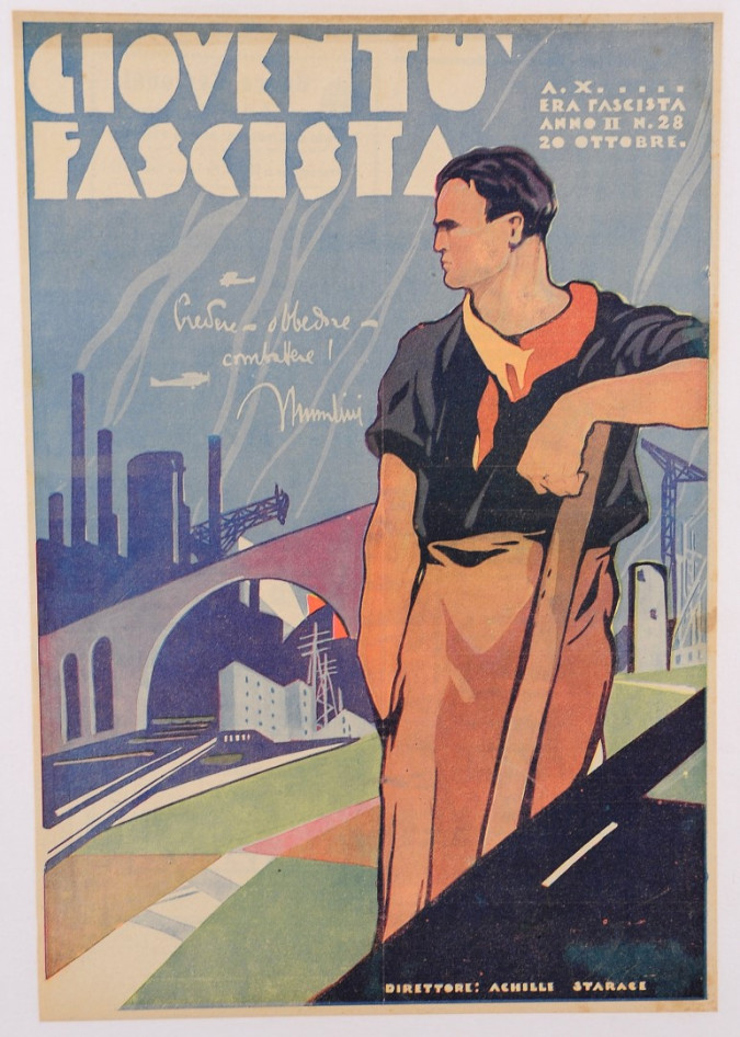 "Mussolini Fascist Magazine ""Gioventù Fascista"" Art Deco"