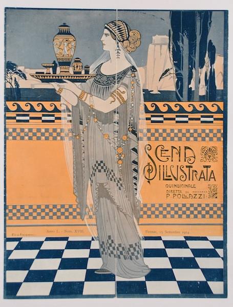 "Original Vintage Art Nouveau Print of  ""Scena Illustrata"" by Ezio Anichini 1914"