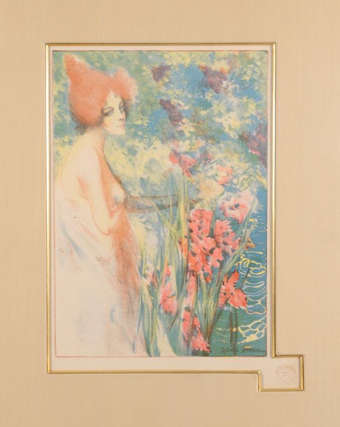 """Original Lithograph """"FLEUR DE MAI"""" by Henri Héran for L'Estampe Moderne 1897"""