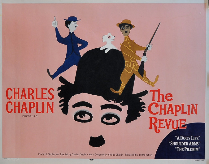 """American Vintage Movie Poster for """"The Chaplin Revue"""" 1959"""