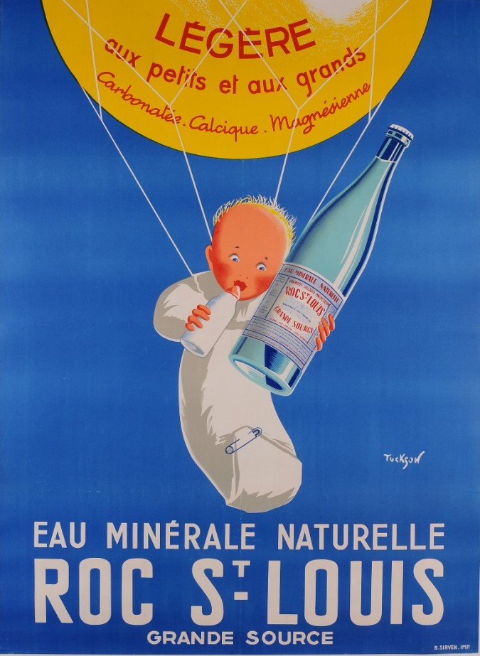 """French Advertising Poster for Mineral Water """"Roc St Louis"""" by Tuckson"""