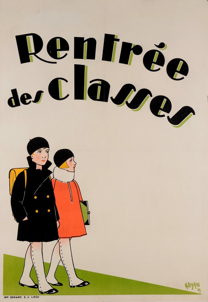 """Original Vintage French Poster """"Rentree des Classes"""" by Legros 1929"""