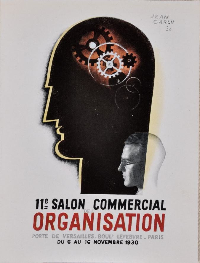 "Original Vintage French Poster Advertising ""Salon Commercial Organisation"""