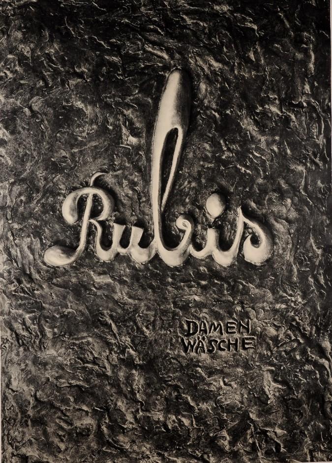 """Original Vintage German Poster Advertising """"Rubis Damen Wasche"""" Lingerie 1950"""