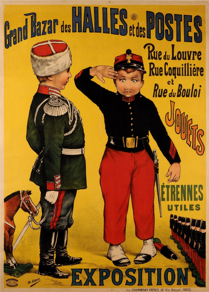 "Original Vintage French Poster ""Grand Bazar des Halles et des Postes""  by Gray"