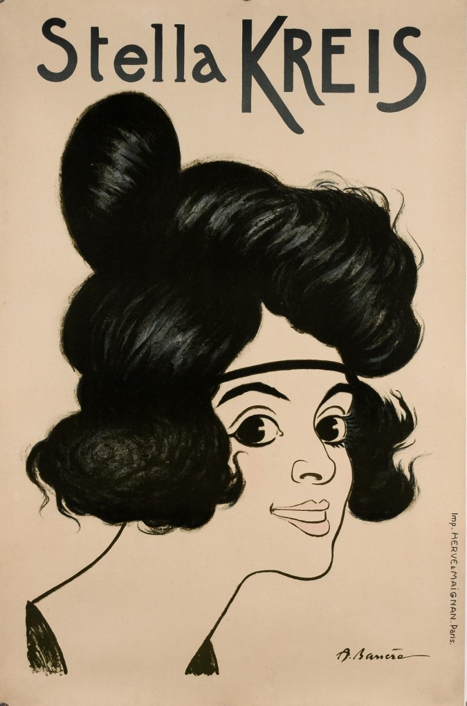 Original Vintage French Poster Advertising The German Performer Stella Kreis