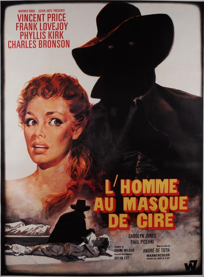 """Original Vintage Movie Poster Advertising """"L'Homme Au Masque De Cire"""""""