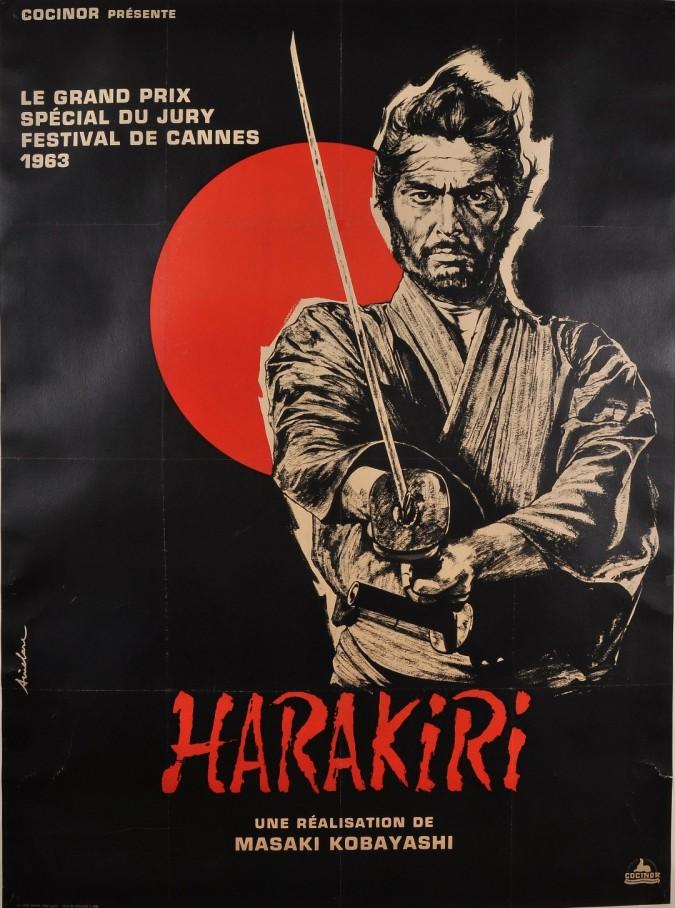 Original Vintage French Movie Poster Harakiri 1963