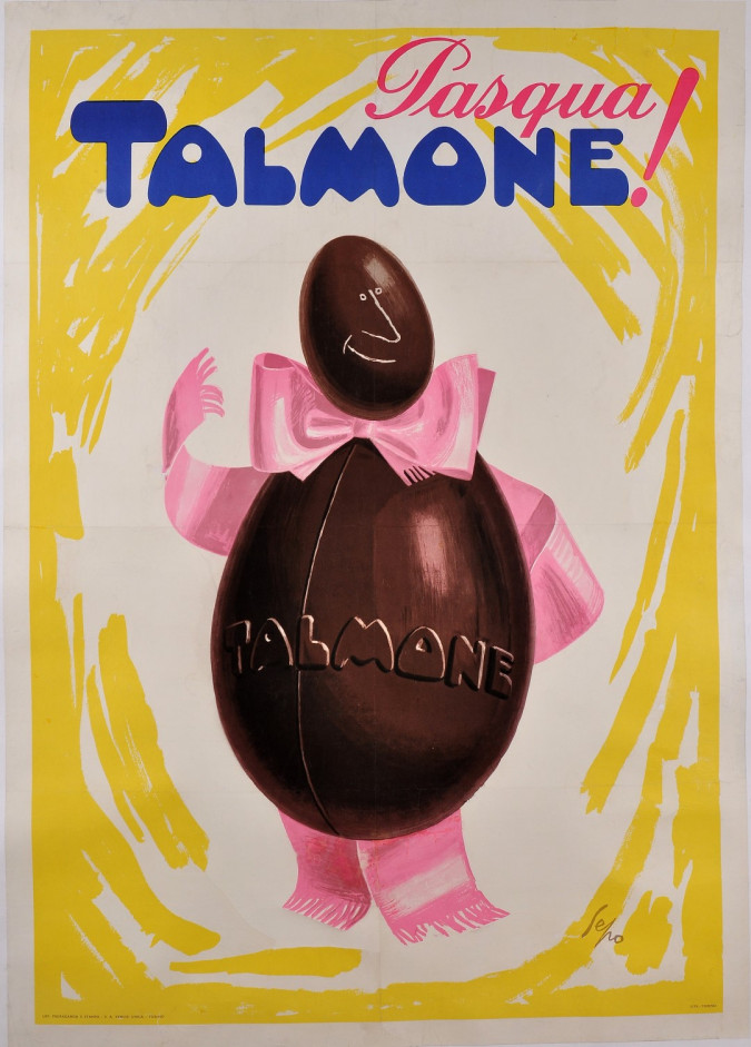 Original Italian Vintage Poster Advertising Chocolate Talmone by Sepo