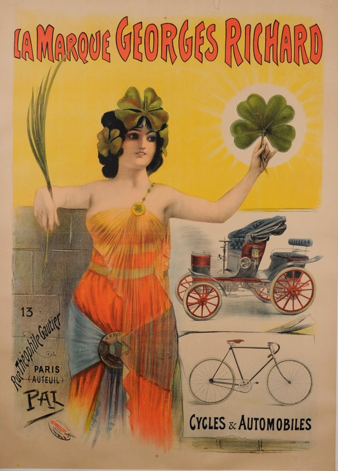 """Original Vintage Italian Poster for """"La Marque Georges Richards"""" by PAL ca.1900"""