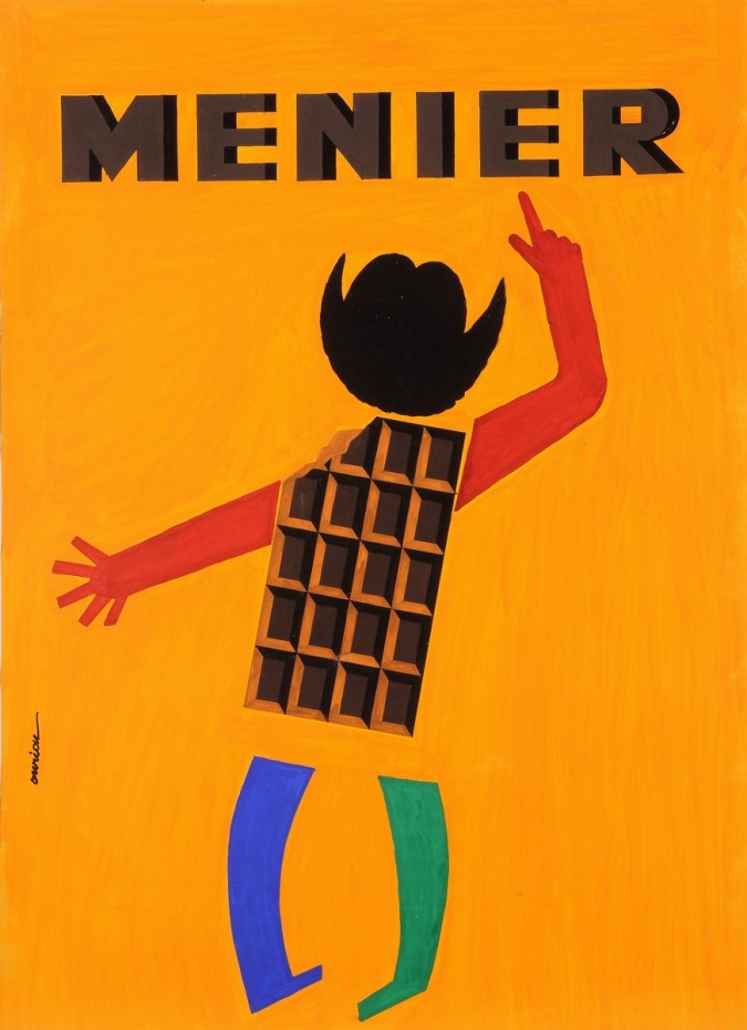 """Original Vintage French Poster for """"Menier"""" Chocolate Maquette by Dwriok"""
