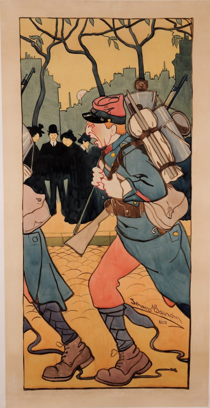 """Original Vintage French Poster """"Before Letters"""" by Jehans Barnoin Nice ca. 1920"""