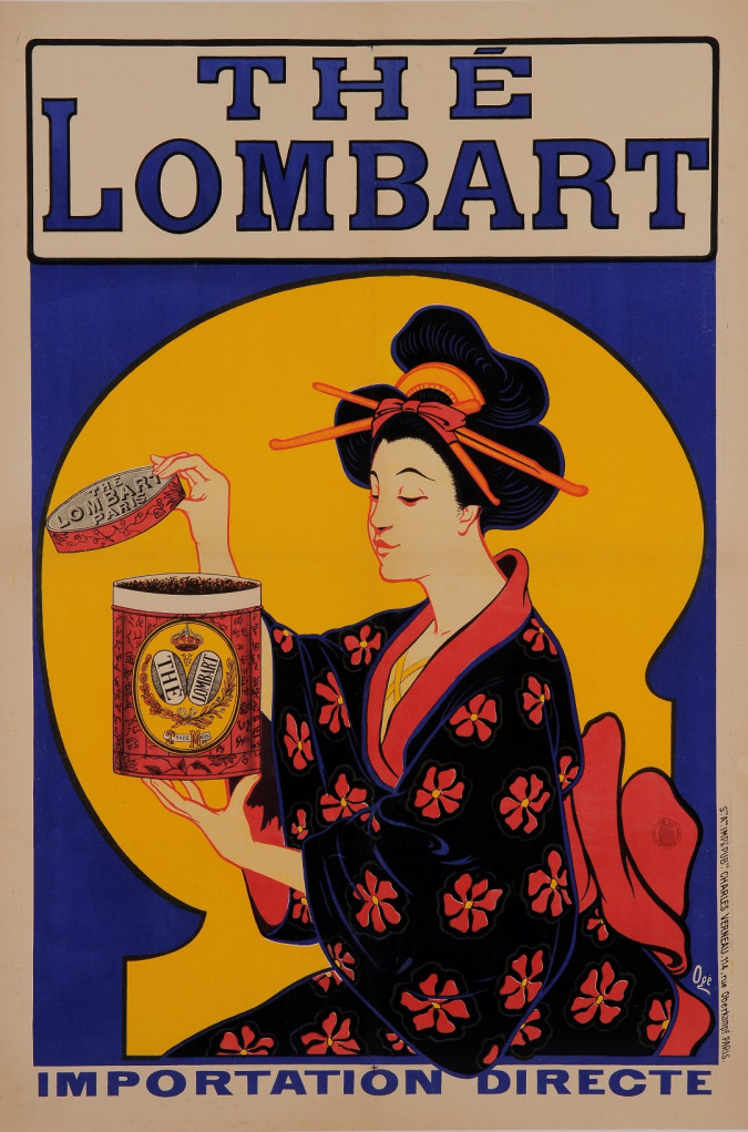 """Original French Vintage Poster Advertising """" THE LOMBART"""" by OGÉ"""