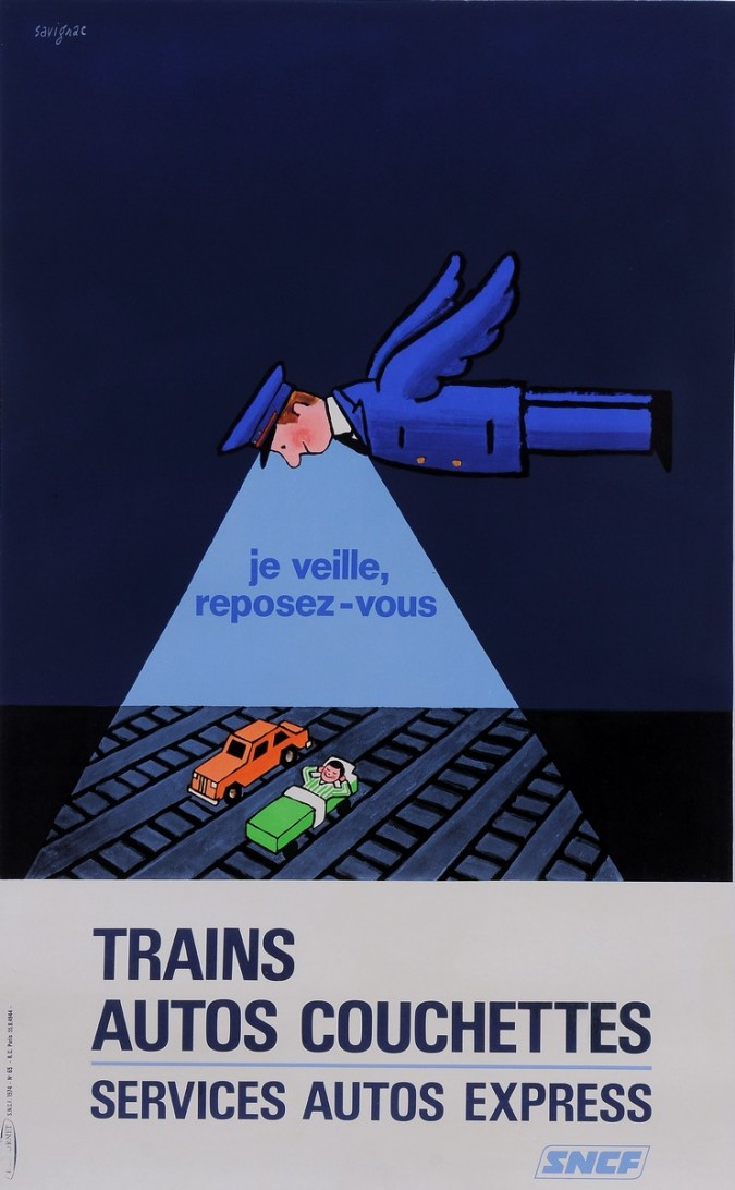 "Original Vintage French Poster Advertising ""SNCF"" by Savignac 1972"