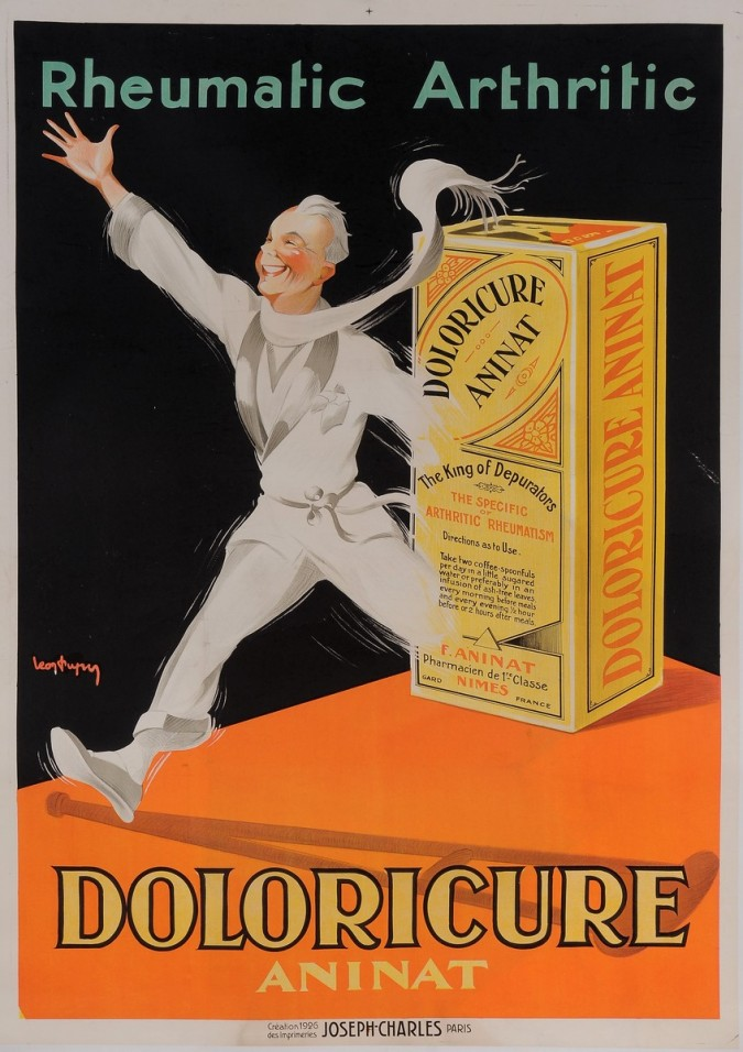"""Original Vintage French Poster for """"Doloricure Aninat"""" by Leon Dupuy 1920"""