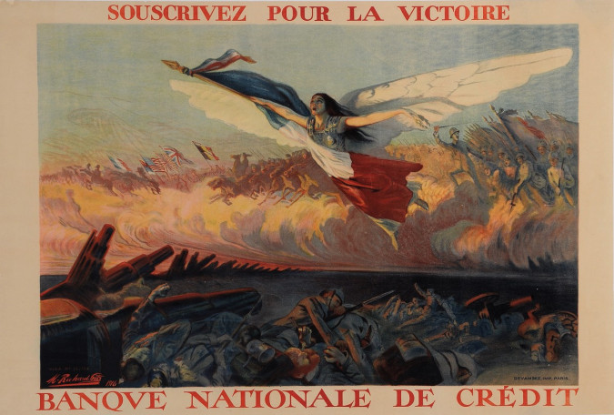 """Original Vintage French Poster for """"Banque Nationale de Crédit"""" by Richard-Gutz"""