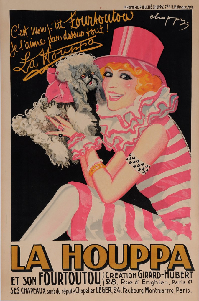 "Original Vintage French Entertainment Poster Advertising ""La Houppa"" 1926"