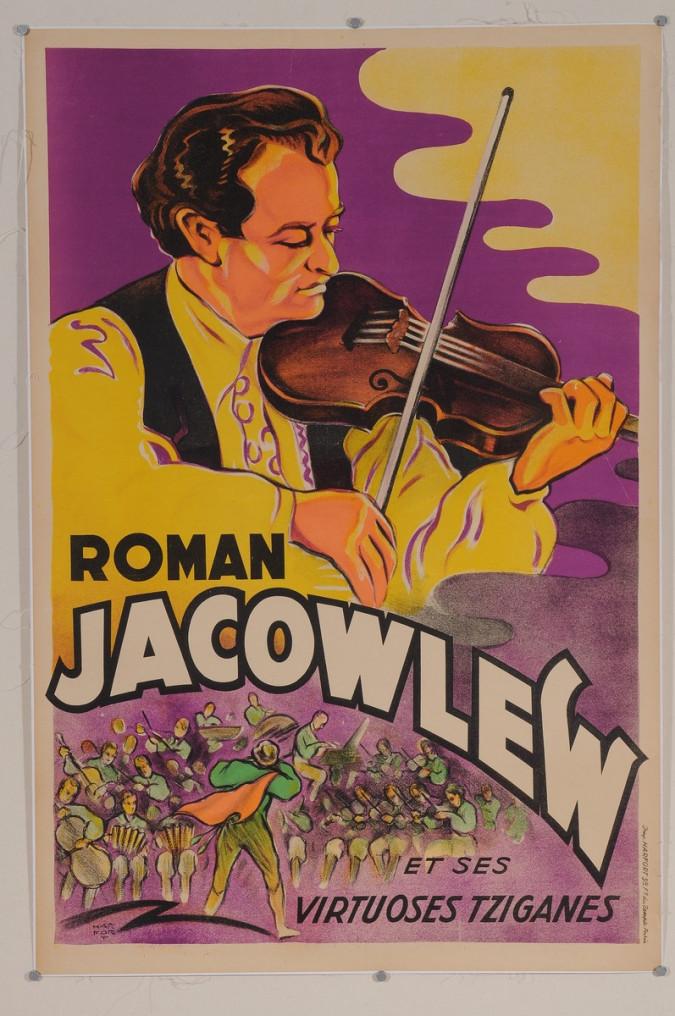 "Original Vintage French Poster for ""Roman Jacowlew et ses virtuoses tziganes"""