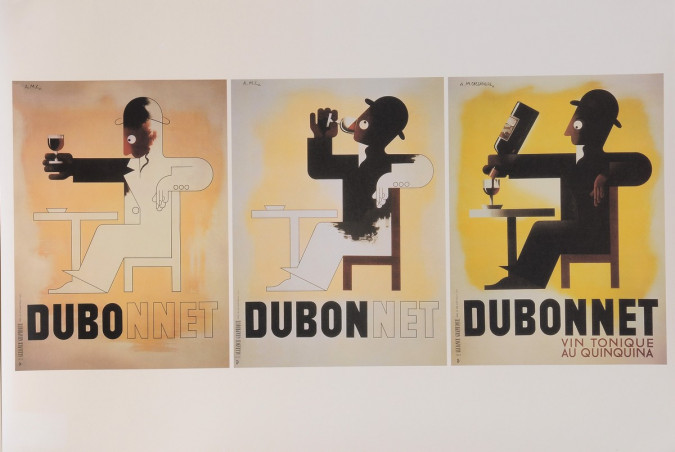"Original French Lithograph for ""DUBO DUBON DUBONNET"" Quinquina by CASSANDRE"