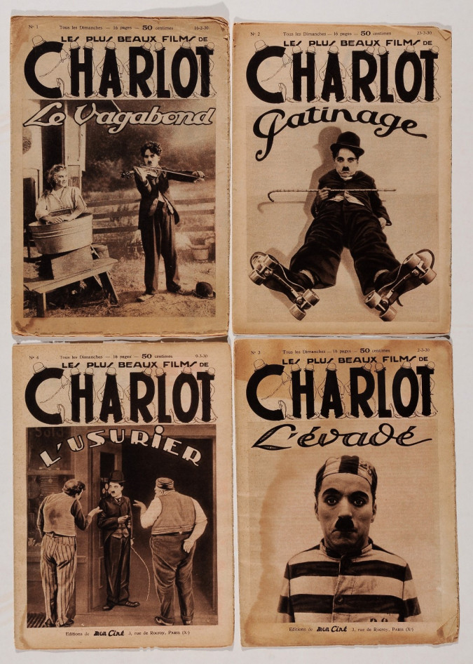 """Original Vintage French Small Booklets Advertising """"Charlot"""" Chaplin 1930's"""
