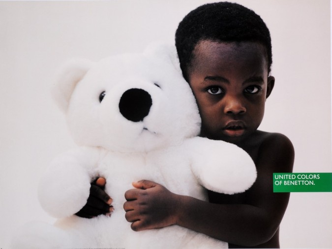 "Original Vintage Italian Fashion Poster for ""United Colors of Benetton"" Children"