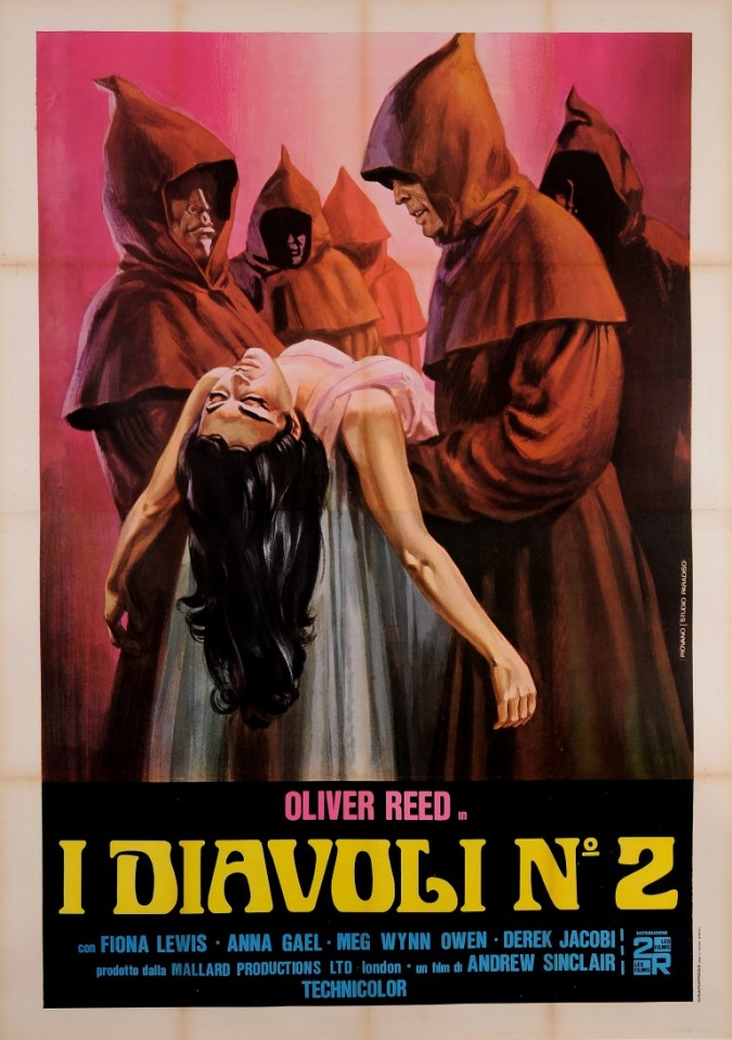 "Original Vintage Itralian Movie Poster for ""I DIAVOLI NO. 2"" ca. 1973"