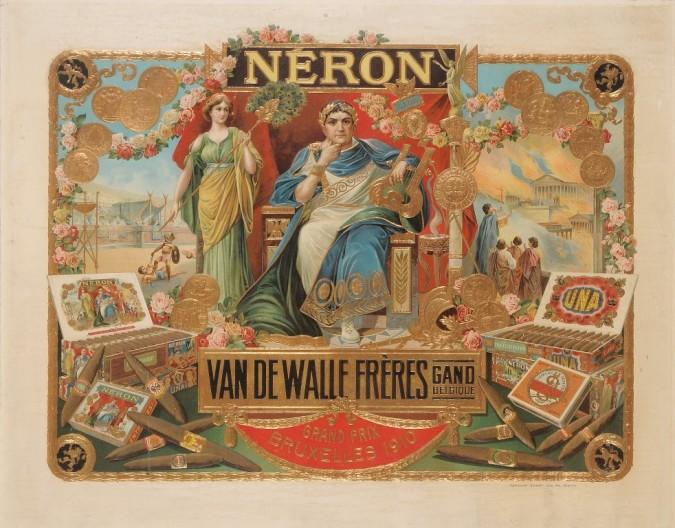 Original Poster on Cartoon for Neron Cigars Bruxelles