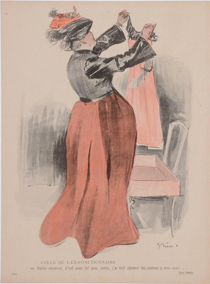 """Original Vintage French Poster """"Petite Chemise""""  by Grun ca. 1900"""