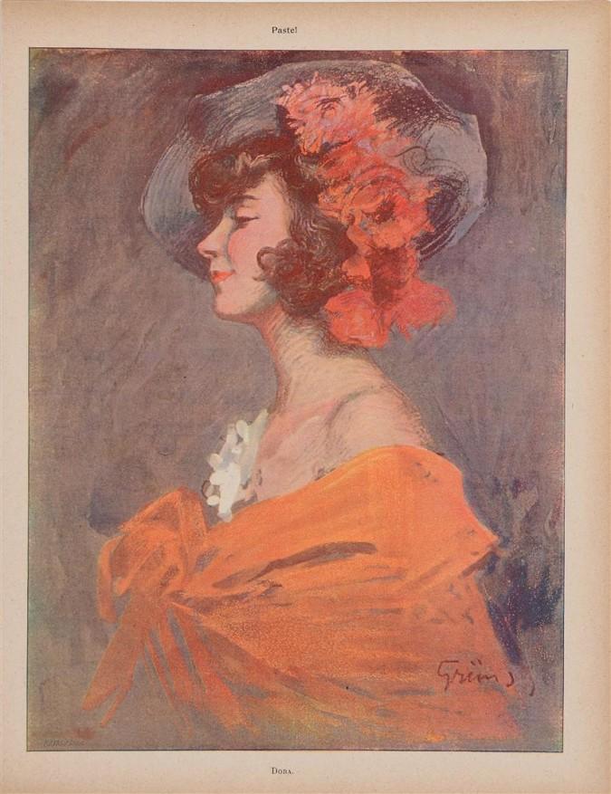 "Original Vintage French Poster ""Dora"" by Grun ca. 1900"