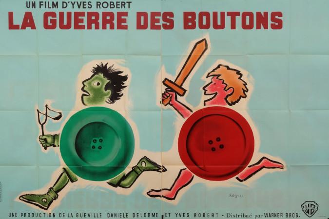 "Original Vintage French Movie Poster ""La Guerre des Boutons"" by Savignac 1961"