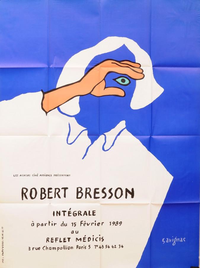 "Original Vintage French Poster ""Robert Bresson"" Film by Savignac 1989"