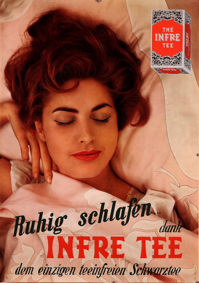 "Original Vintage Swuss Poster for ""Infre Tee"""