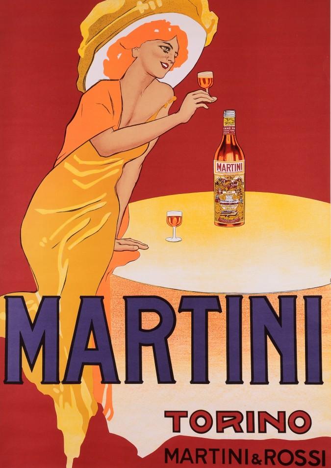 Original Vintage Italian Poster for Martini Vermouth Torino by  MARCELLO DUDOVICH