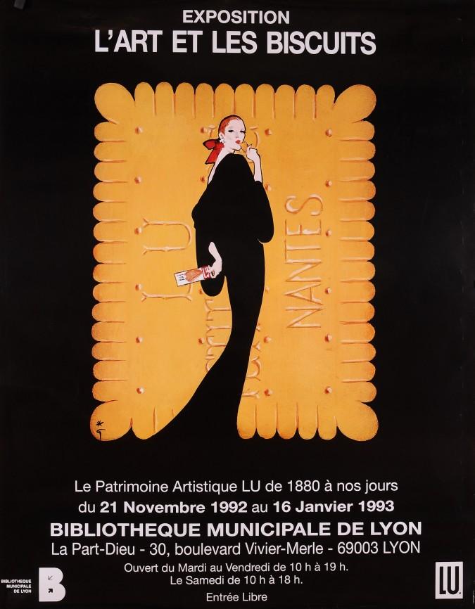 Original Vintage French Poster for L'Art et les Biscuits Exhibition