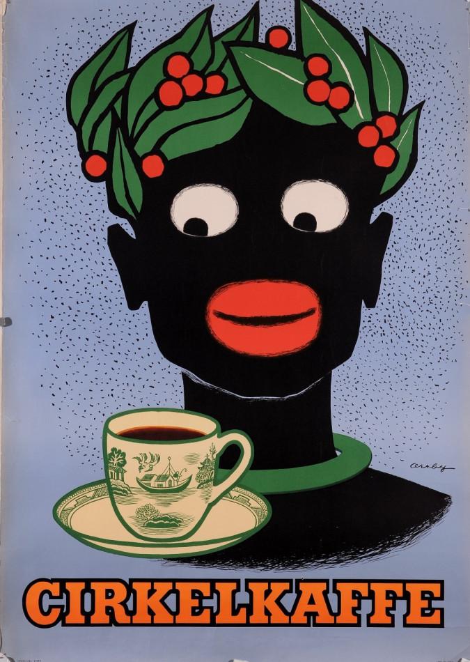 "Original Vintage German Poster for ""Cirkelkaffe"" by Orbby"