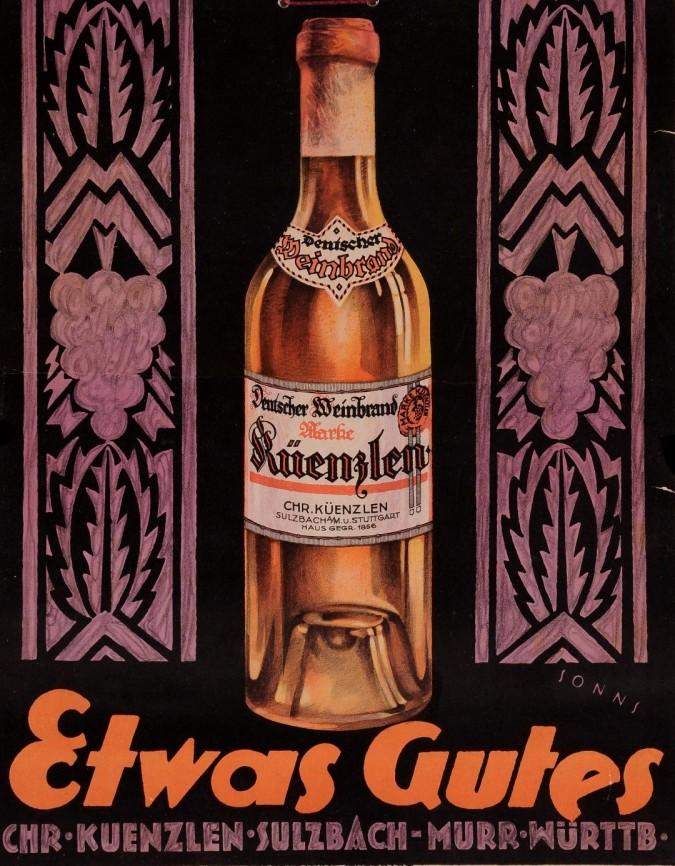 """Original Vintage French Poster for """"Etwas Gutes""""."""