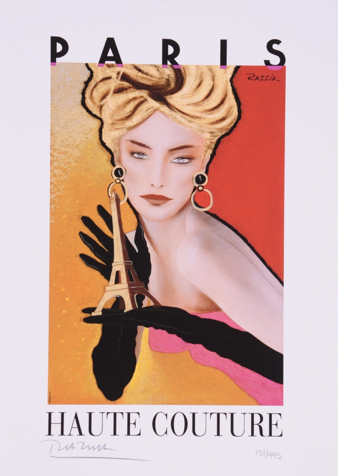 """Limited Ed. Hand Signed Print""""Haute Couture"""" Hand Signed by Razzia 151/995"""