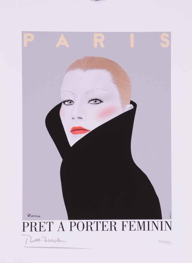 """Limited Ed. Hand Signed Print """"Pret A Porter Feminin"""" by Razzia 151/995"""