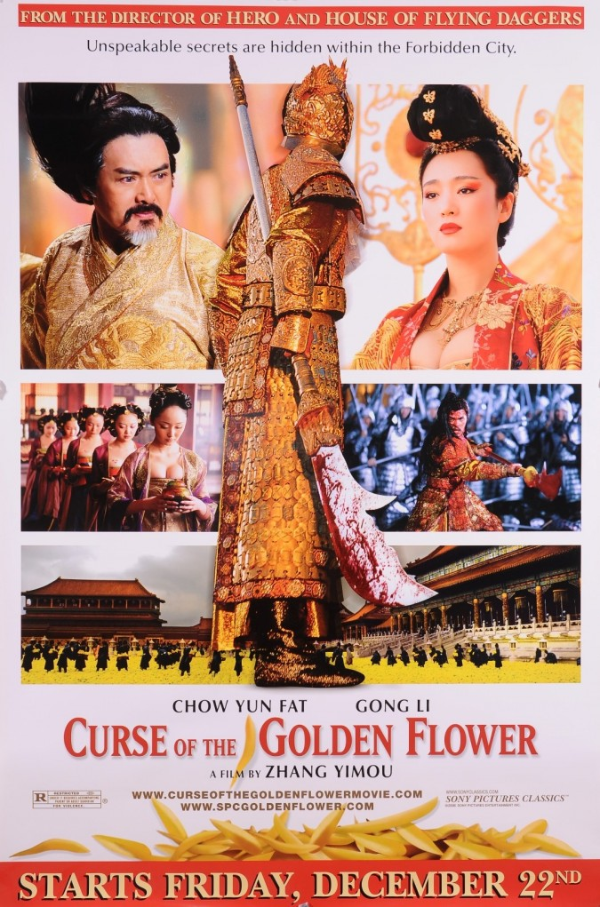 "Original Vintage French Movie Poster for the Movie ""Curse of the Golden Flower"""