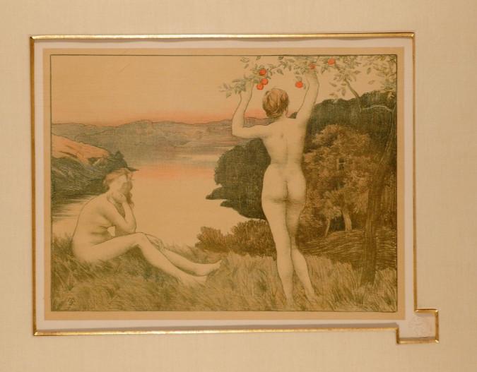 """Original Lithograph """"Automme (Autumn)"""" by René Ménard for L'Estampe Moderne 1897"""