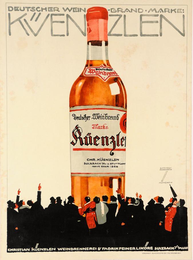 Original Vintage German Poster advertising Kuenzlen by Ludwig Hohlwein ca. 1910